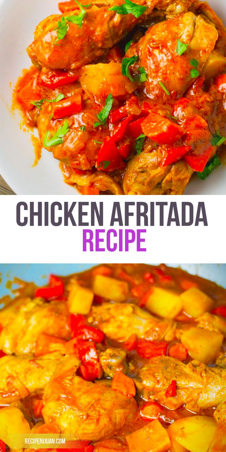 Chicken Afritada Recipe is one of those Filipino recipes which are doused in tomato sauce. Along with Beef Mechado, Pork Giniling, Menudo and other Filipino tomato-based recipe, the chicken afritada is another popular dish from among the Filipinos.