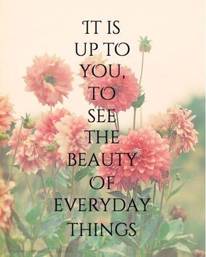 It's up to you to see the beauty in everyday things quote nature beauty positive quote everyday