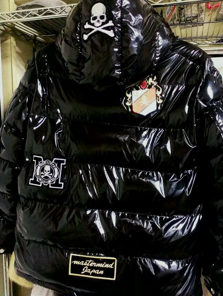 Shiny black men's coat