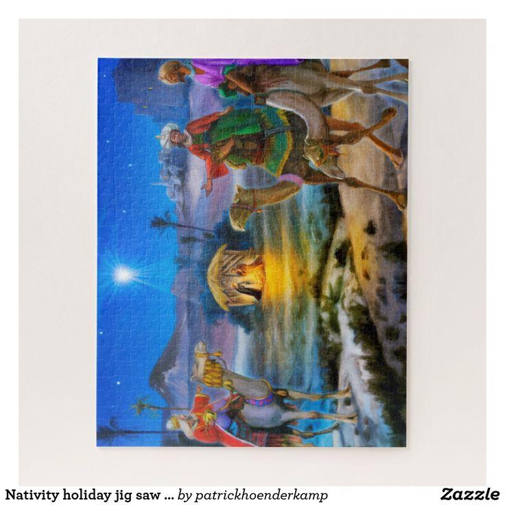 Nativity holiday jig saw with three kings