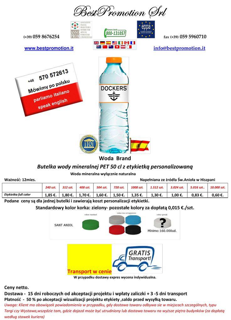 Woda Brand 50 cl | Woda Reklamowa