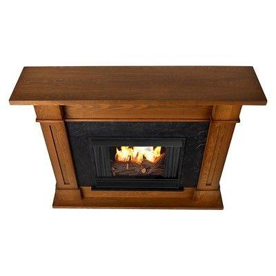 Real Flame - Kipling Gel Fireplace-Burnished Oak, Burnished Oak