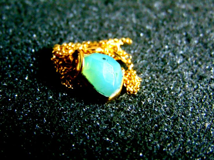 Beautiful gold plated sterling silver and  chrysoprase necklace-Sterling silver chain necklace-Bezel  chrysoprase women's necklace by ArchipelagosBreeze on Etsy