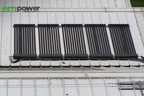 Collettori dell'impianto solare termico