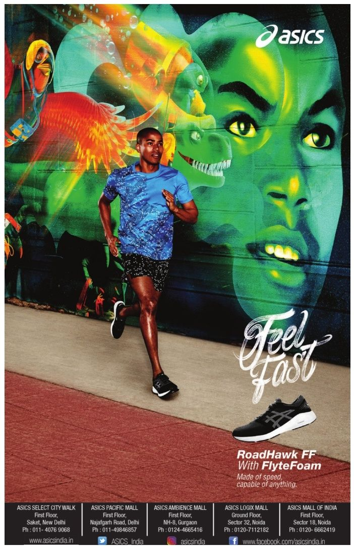 depressione dignità Stesso  asics-feel-fast-road-hawk-ff-with-flyte-foam-shoes-ad-times-of-india-chandigarh.  Check out more Apparel & Accessories Advertisement… | Shoes ads, Foams  shoes, Asics