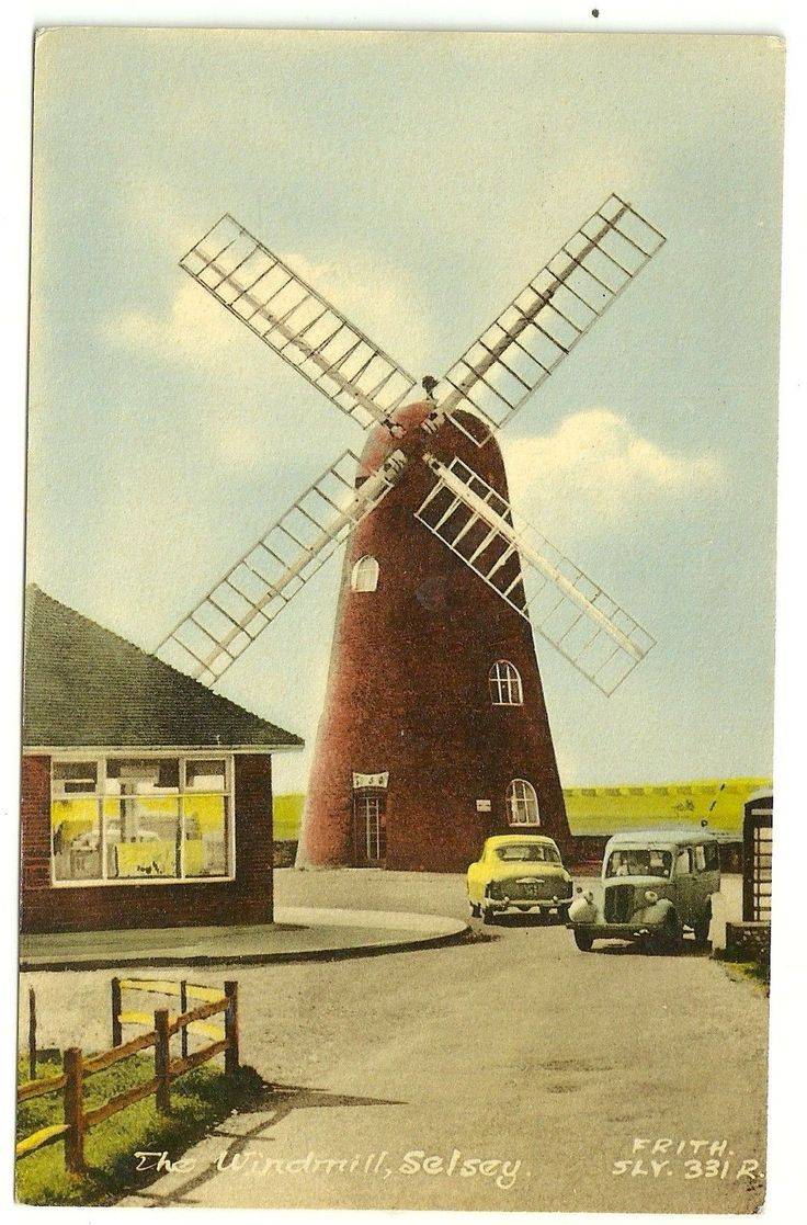 Sussex postcard Selsey The Windmill
