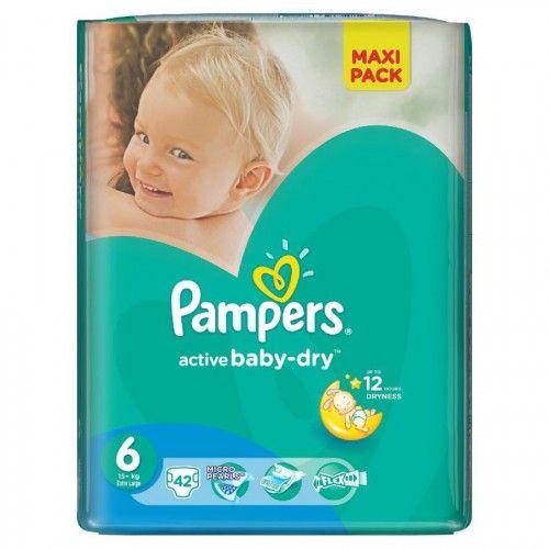 Pampers 6 Active Baby-Dry, 42 ks  Plenky Pampers pro Vaše děťátko levně! Doprava zdarma při objednání nad 1000 Kč!   https://babyplenky.cz/