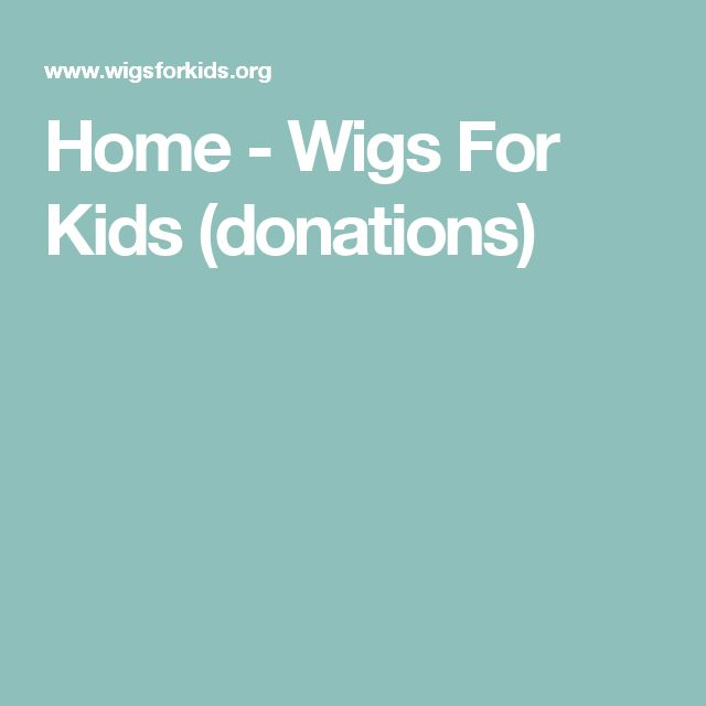 Home - Wigs For Kids (donations)
