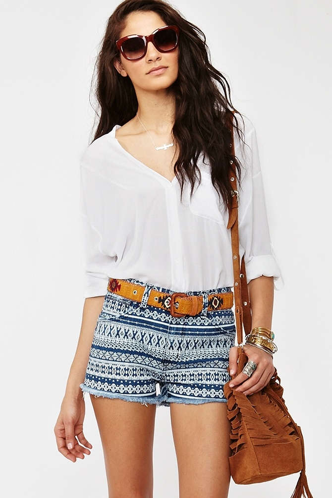 Indian Summer Cutoff Shorts...can't stray from the tribal