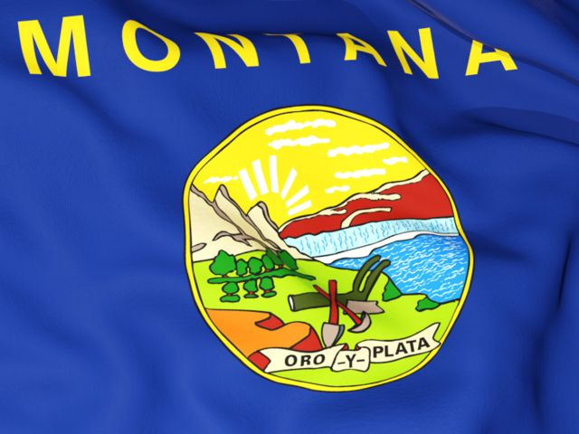 Flag background. Download flag icon of Montana