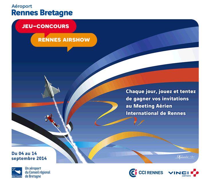 """Aéroport de Rennes : jeu-concours calendrier """"RENNES AIRSHOW"""" à l'occasion du Meeting Aérien de Rennes"""