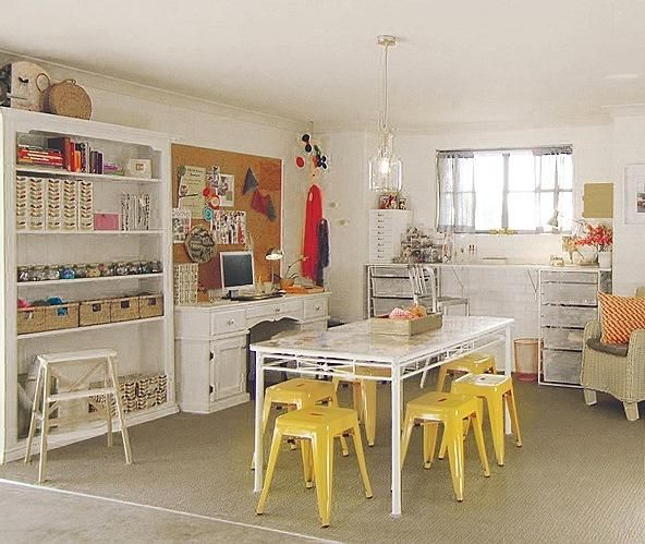 Garage makeover! Dedicating an area for children to be creative and play freely is the best kind of gift. Bright colors, soft flooring and ample light are all you need to keep kids happy and occupied. Ample storage space makes this crafting/playroom perfect for easy cleanup.