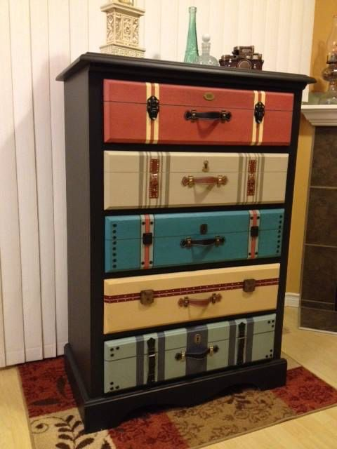 Suitcase dresser                                                                                                                                                                                 More
