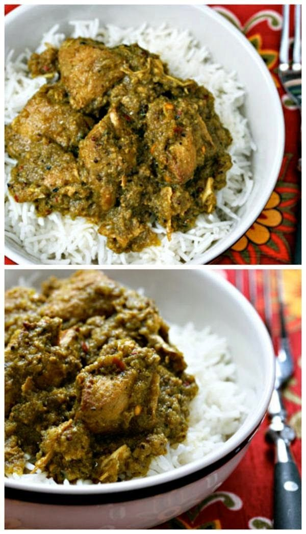 Slow Cooker Chicken Vindaloo from The Perfect Pantry; use the slow cooker to make this Indian favorite at home!  [Featured on SlowCookerFromScratch.com]