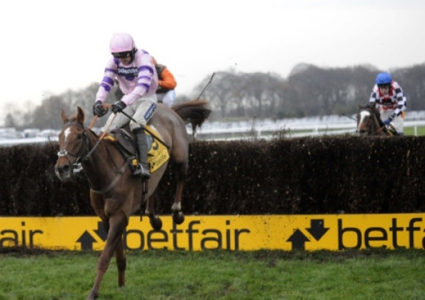 Silviniaco Conti and Ruby Walsh go on to win the Betfair SteepleChase