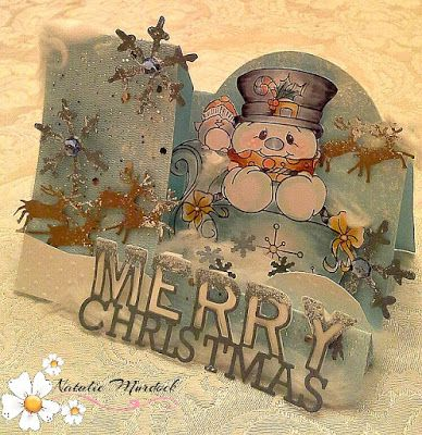 """ONECRAZYSTAMPER.COM: Merry Christmas card by Natalie using  High Hopes Stamps """"Sleigh Ride"""" (SS004)"""