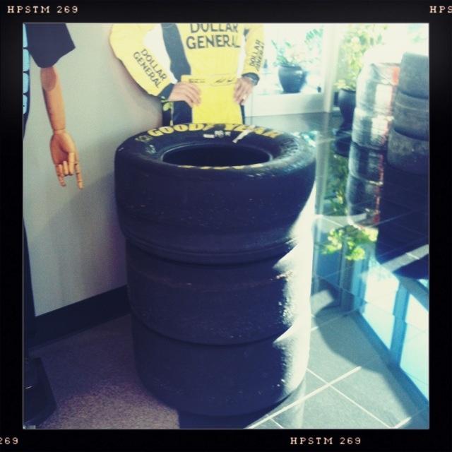 Matt Kenseth Darlington Win Tires here at Joe Gibbs Racing!!! #NASCAR #KENSETH