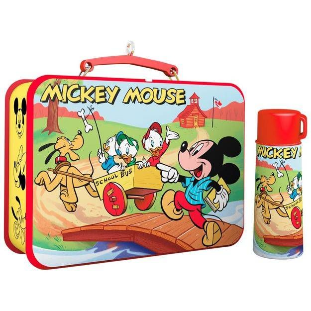 Disney Mickey and Friends Mickey Mouse Lunchbox and Thermos Ornaments, Set of 2