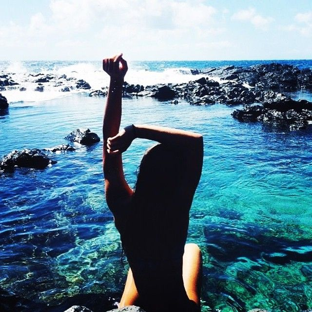 Time for an aftanoon dip! Let's #getbaptized! #ocean #love #beauty #junglegurl