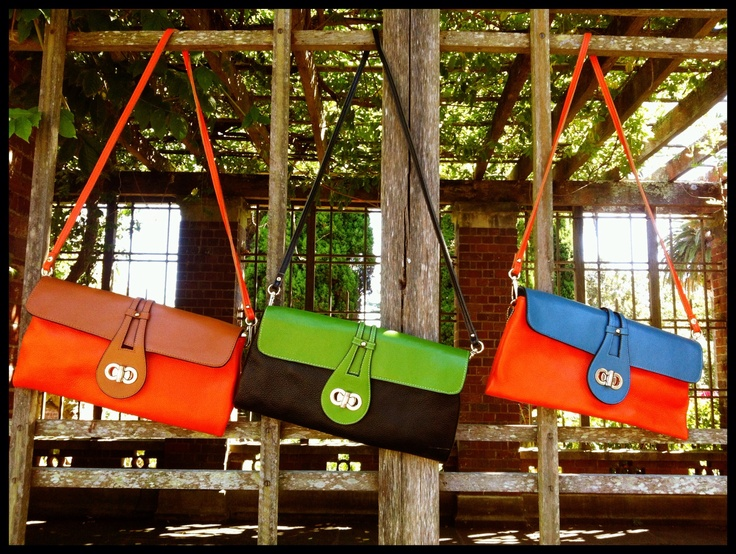 Zahara clutches. Fun colours!