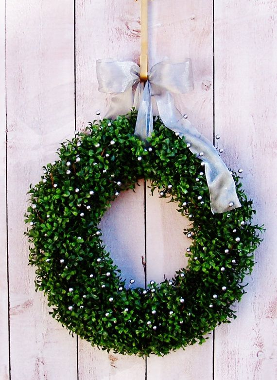 SILVER BELLS Berry Boxwood WreathChristmas by DesigningCreations, $89.00
