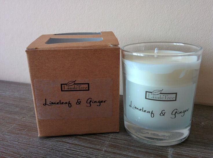 Glass candle LindeTree www.bondoux.nl
