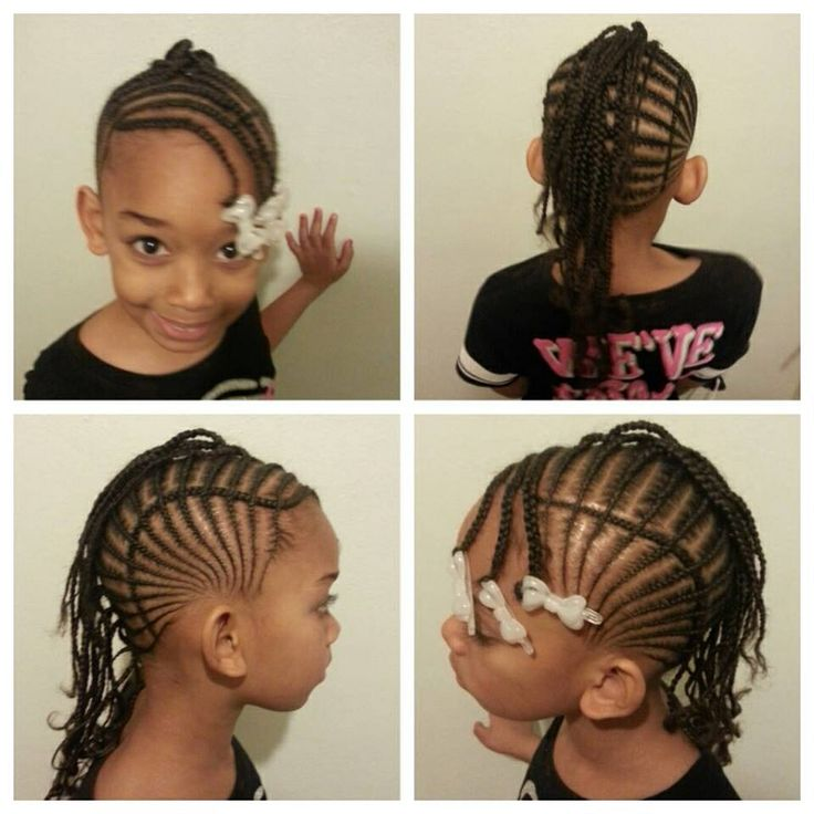 Amazing 1000 Images About Natural Kids Cornrow Mohawk On Pinterest Short Hairstyles For Black Women Fulllsitofus