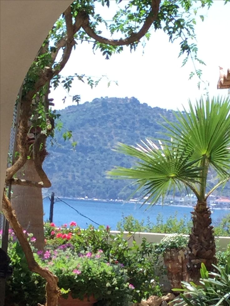 A view looking towards the limani in Tyros, Greece.