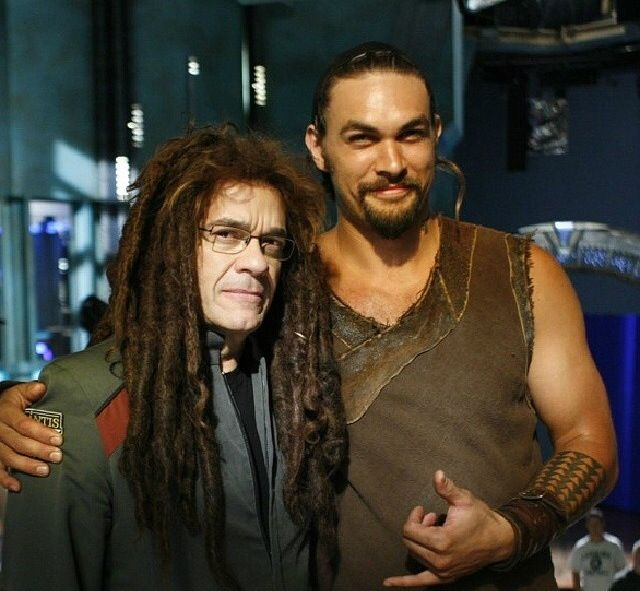 Jason Momoa and Robert Picardo