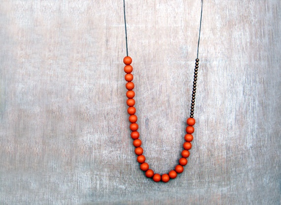 Rusted orange necklace by JullMade on Etsy, €18.00