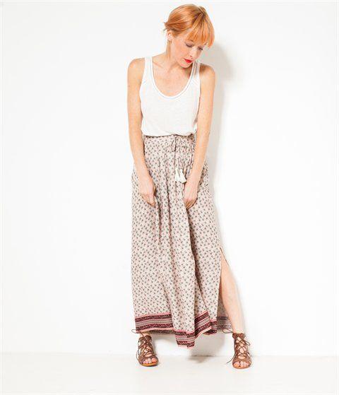 Longue jupe imprimée femme