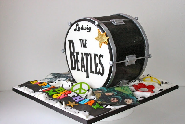 Celebrate with Cake!: Beatles Drum Cake