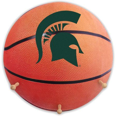 Michigan State University Basketball Coat Rack, Orange