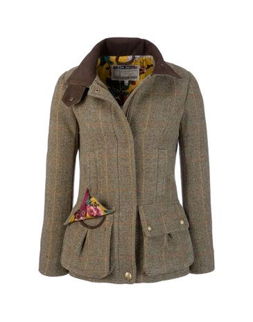 Womens Tweed Coat ~ Joules. Perfect for the cool days on the moors or in the highlands