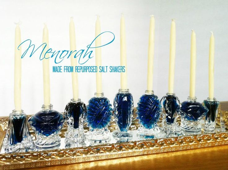 How to make a recycled salt shaker menorah · Recycled Crafts | CraftGossip.com