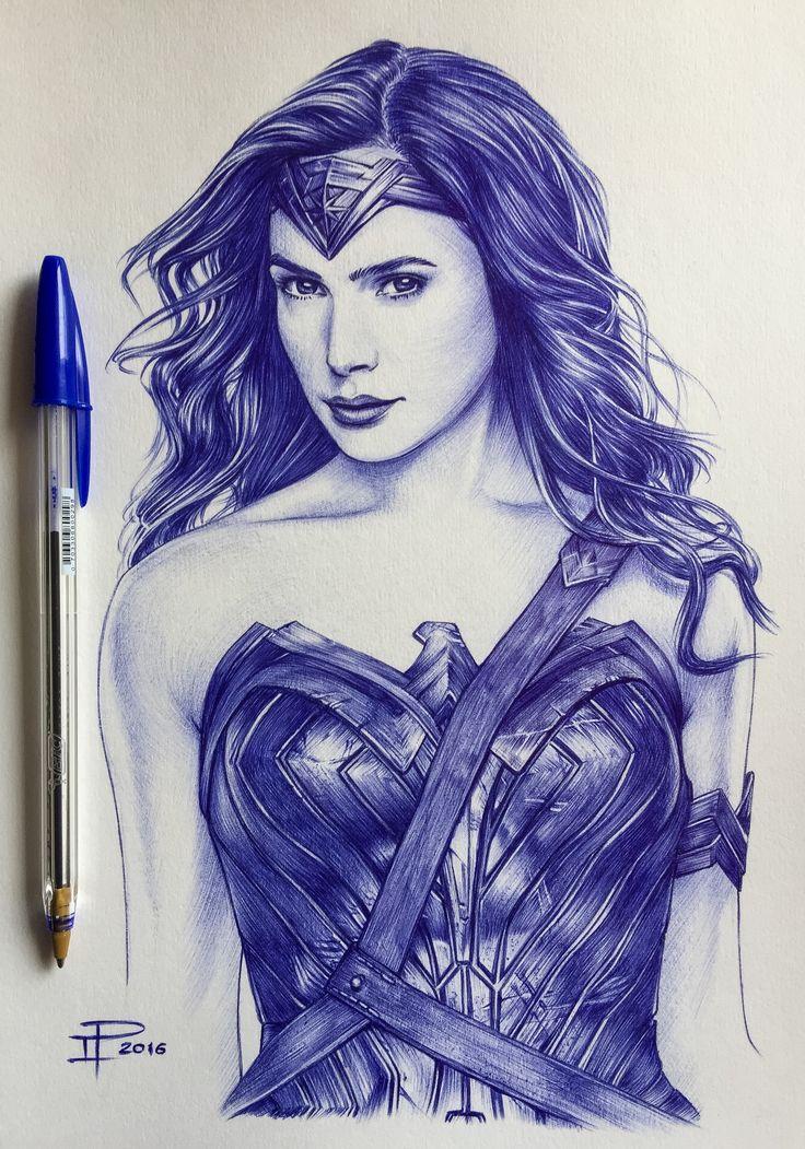 "Gal Gadot - ""Wonder Woman"" - Ballpoint Pen"