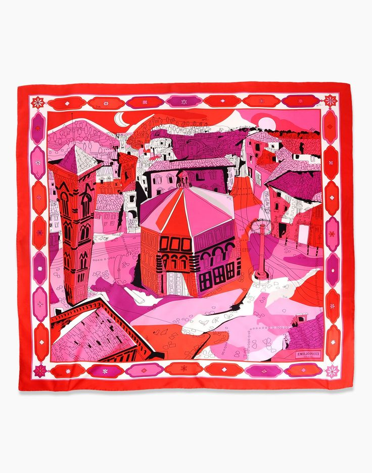 EMILIO PUCCI - cities of the world scarf: Firenze