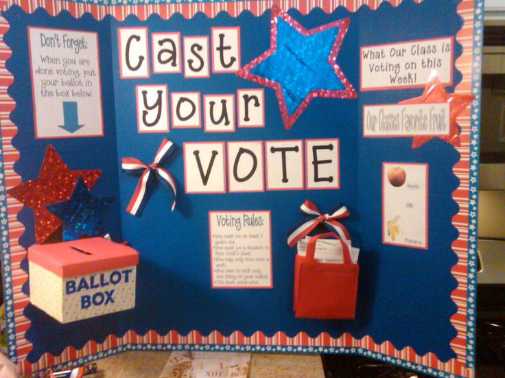 Classroom voting booth!