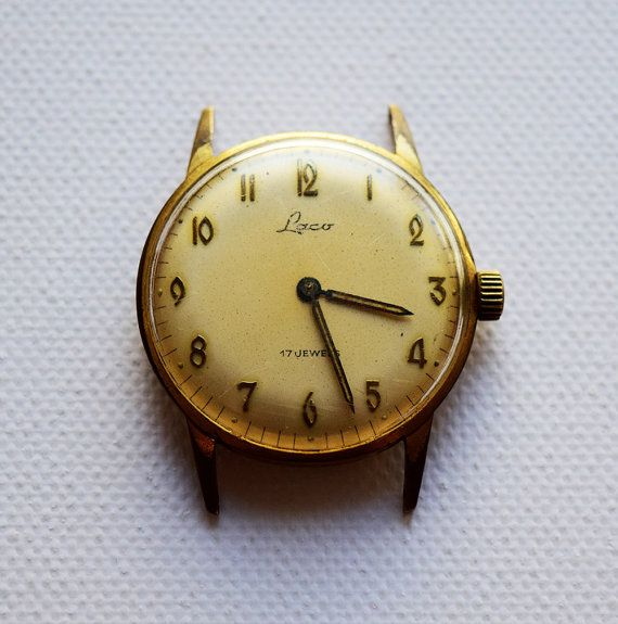 Laco- Very Rare - Automatic - Gold Plated - Germany Made - Working Condition - Retro Watch - 17 Jewels - 1950s  BEAUTIFUL MODEL ! CAN BE USED FROM DAY 1! Please see the item is gold plated.  When purchasing a watch always keep in mind who made it ! Price is negotiable , so please message your offers.    ❤Please do not hesitate to contact us before purchase !❤   I greatly appreciate your interest in my listing. I look forward to a pleasant, quick and satisfying transaction for both of us…