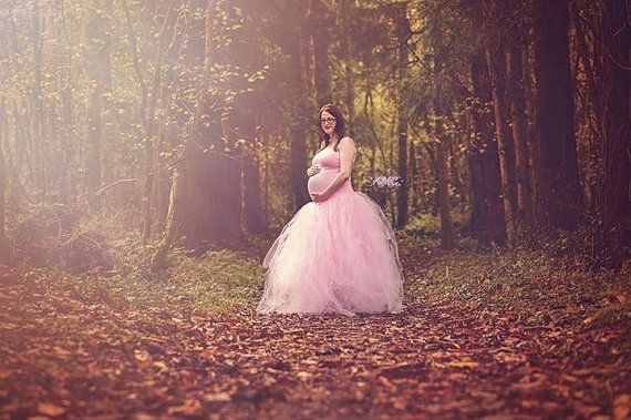 The extra full long tutu skirt and a full length fitted dress make a gorgeous set for every princess! Great for photography, maternity shoots,
