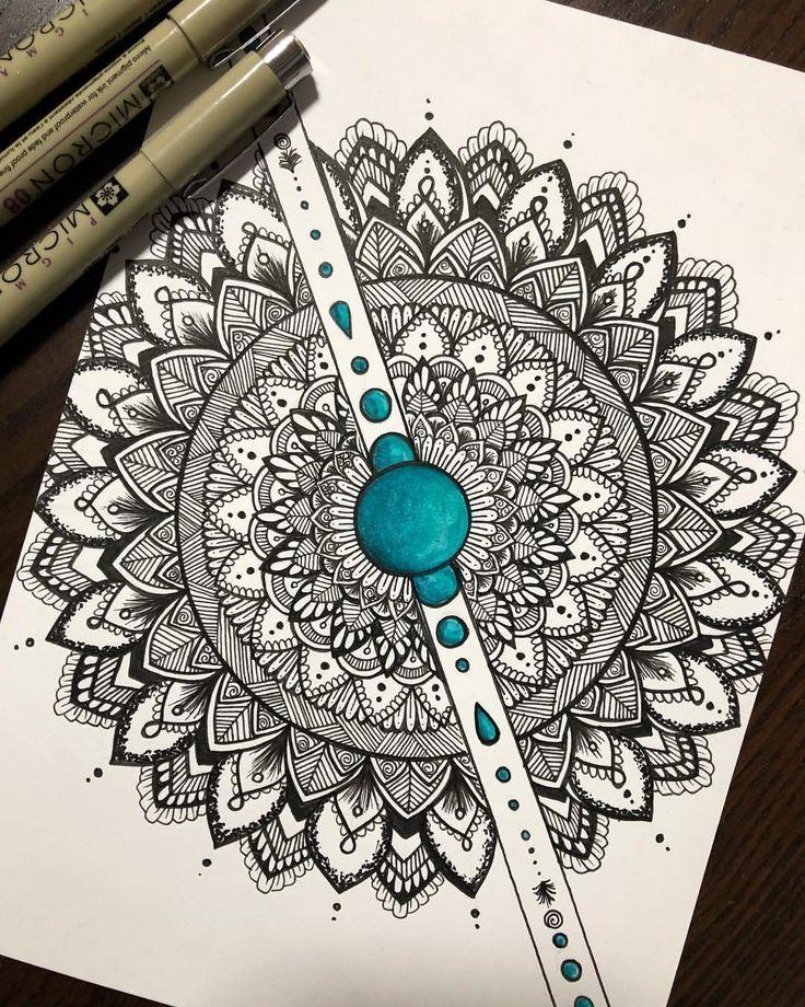 Ein Mandala Zeichnen In 3 Schritten Zu Deinem Eigenen Design Perks Of Being A Student Mandala Zum Ausdrucken Kunstjournal Inspiration Mandalas Zeichnen