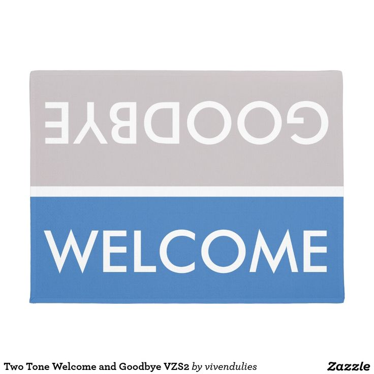 7 best zazzle collection for the stylish minimalist images on shop two tone welcome and goodbye doormat created by vivendulies reheart Choice Image