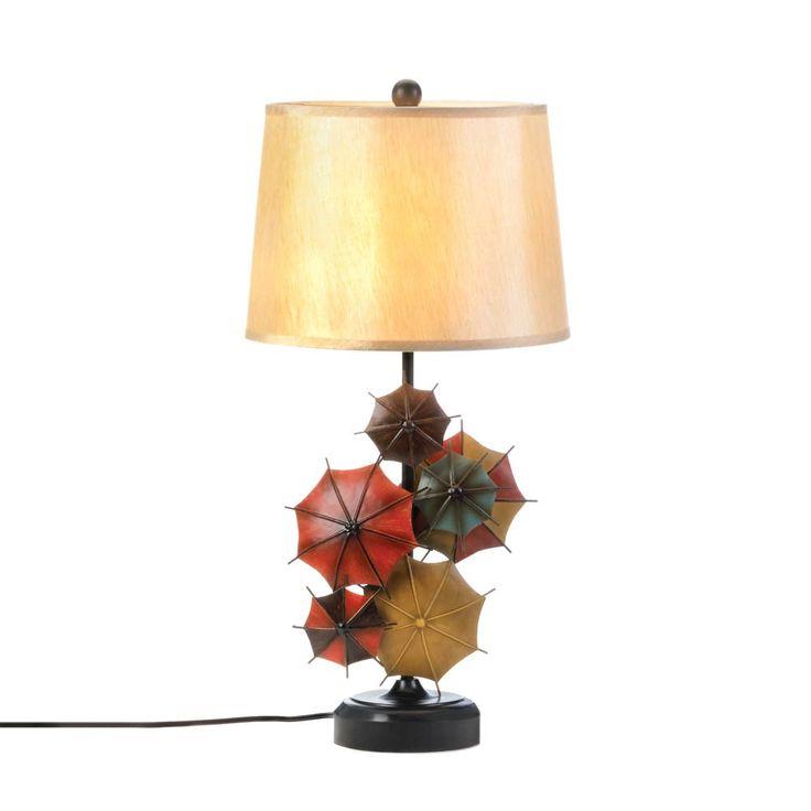 Colorful umbrella table lamp wholesale koehler home