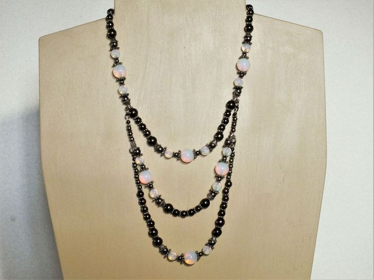 Iconoclast Necklace - Opalite and Pyrite
