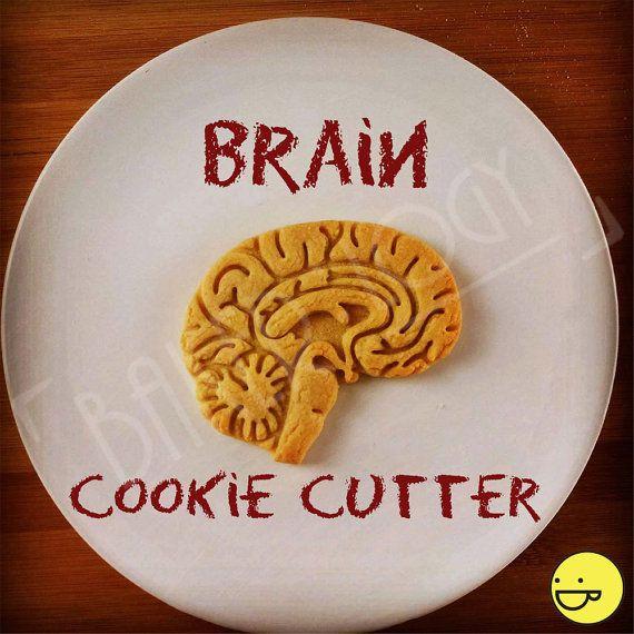 Taglierina del biscotto anatomico del cervello | Frese di biscotti del cuore | taglierina del biscotto | Regali per gli studenti di informatica di studente di medicina | unico nel suo genere | OOAK