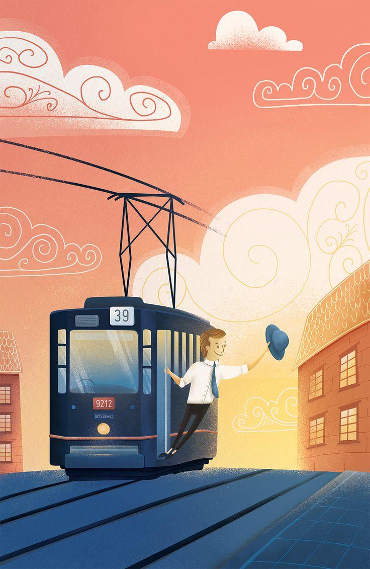Jade do CIebie tramwajem - Katarzyna Piatek ilustracje