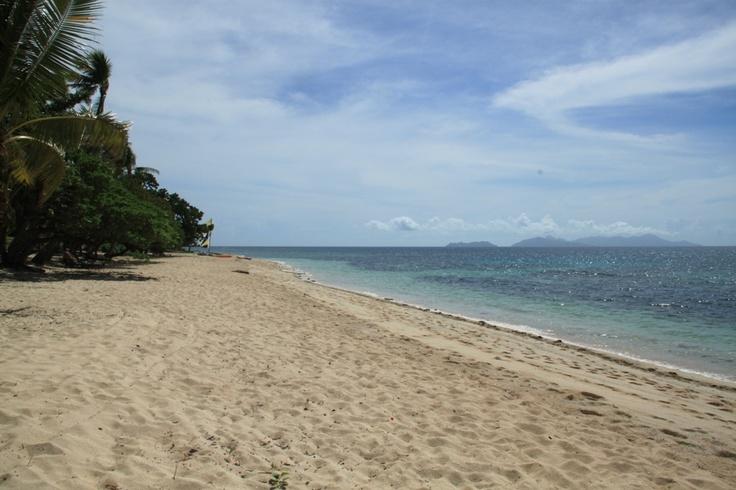 The busiest beach on Vomo island