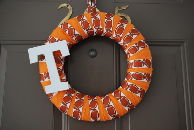 Tennessee Vols Wreath: Football Seasons, Crafts Ideas, Football Wreaths, Diy Crafts, Wreaths So Crafty, Football Fans, Fall Wreaths, Touchdown Tenness, Wreaths Ideas