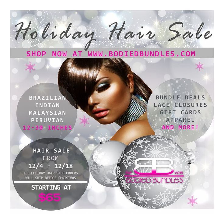 HI BEAUTIES! BODIED BUNDLES HOLIDAY HAIR SALE IS OFFICIALLY HERE!! Shop now and take advantage of our AMAZING Holiday Hair Sale! Save BIG on our 3 Bundle Deals 4 Bundle Deals and Lace Closures with our unbeatable prices just in case time for the holidays!! Starting at just $65!  Link in bio | http://ift.tt/1PmOBEO by bodiedbundles
