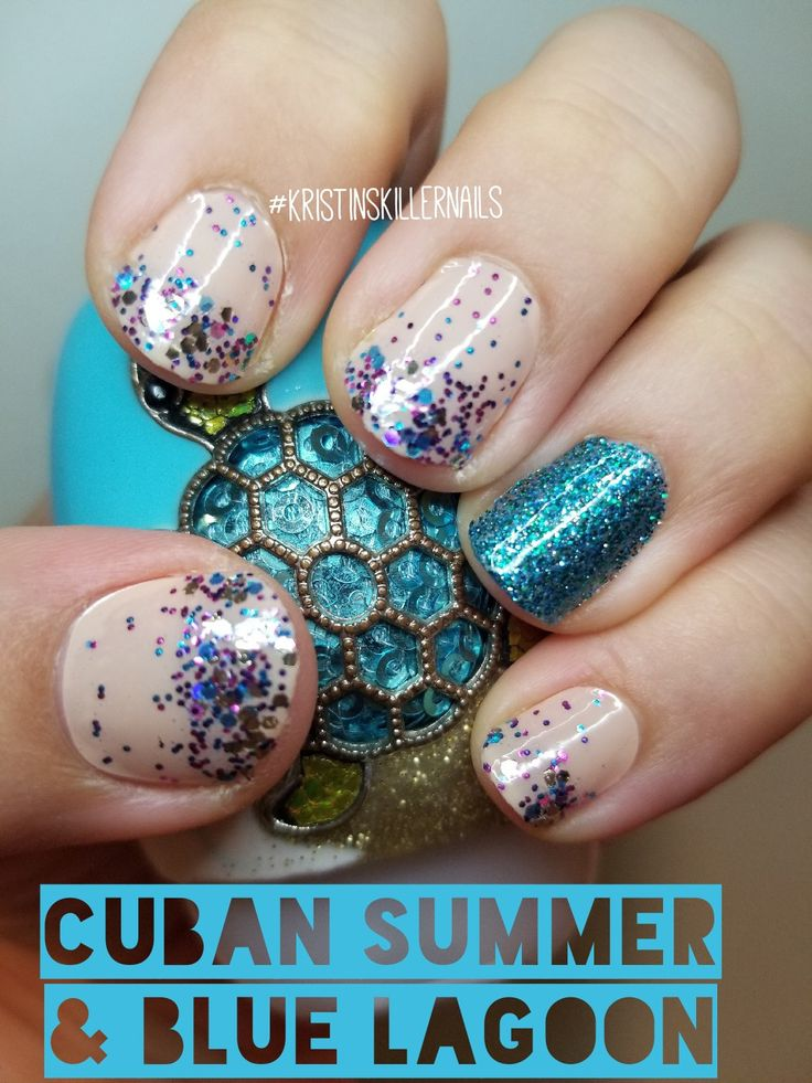 Color Street Cuban Summer With Blue Lagoon Color Street Has 100 Real Nail Polish Strips That